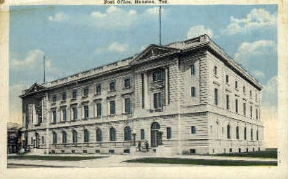 Post Office - Houston, Texas TX Postcard