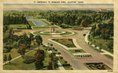 Herman Park - Houston, Texas TX Postcard