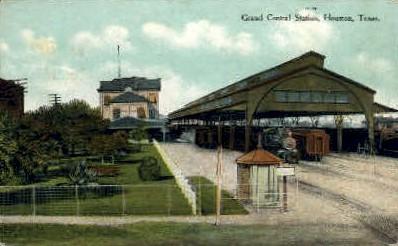 Grand Central Station - Houston, Texas TX Postcard