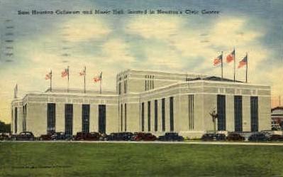 Sam Houston Coliseum And Music Hall - Texas TX Postcard