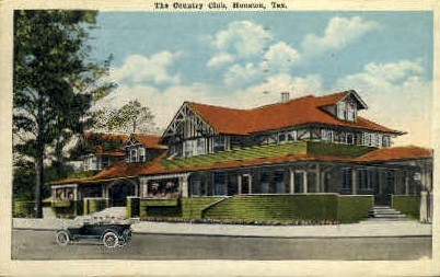 The Country Club - Houston, Texas TX Postcard