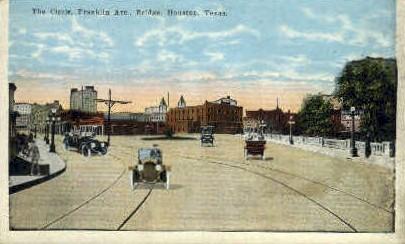 Franklin Avenue - Houston, Texas TX Postcard
