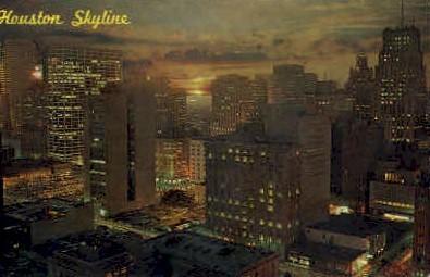 Houston Skyline - Texas TX Postcard
