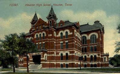 Houston High School - Texas TX Postcard