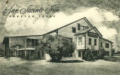 San Jacinto Inn - Houston, Texas TX Postcard