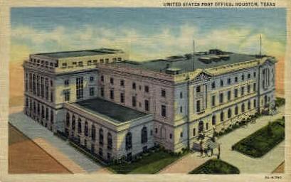 United States Post Office  - Houston, Texas TX Postcard