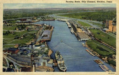 Ship Canal - Houston, Texas TX Postcard