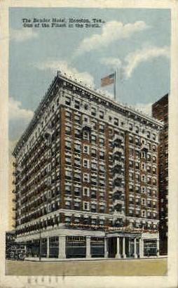 The Bender Hotel - Houston, Texas TX Postcard