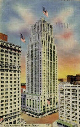 Gulf Building - Houston, Texas TX Postcard