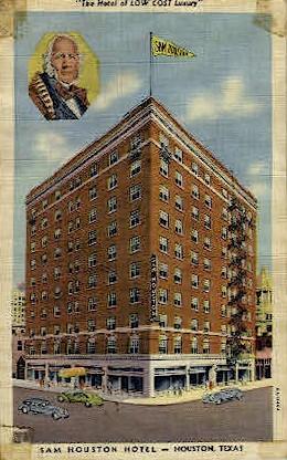 Sam Houston Hotel  - Texas TX Postcard