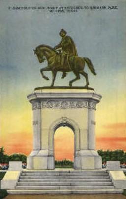 Sam Houston Monument - Texas TX Postcard