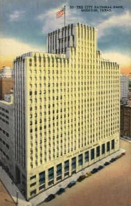 The City National Bank - Houston, Texas TX Postcard