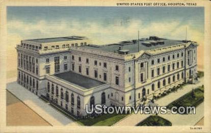 US Post Office - Houston, Texas TX Postcard