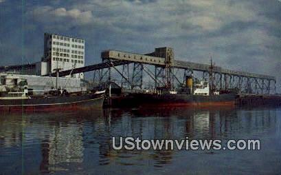 Ship Channel & Grain Warehouse - Houston, Texas TX Postcard