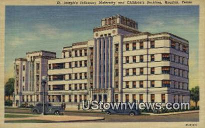 St. Joseph's Infirmary Maternity - Houston, Texas TX Postcard