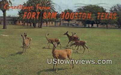 Fort Sam Houston, Texas      ;     Fort Sam Houston, TX Postcard