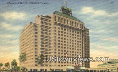 Shamrock Hotel - Houston, Texas TX Postcard