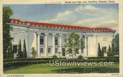 Music & Fine Arts Bldg - Houston, Texas TX Postcard