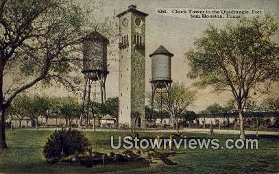 Clock Tower, Quadrangle - Fort Sam Houston, Texas TX Postcard