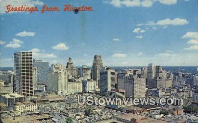 Houston, TX     ;     Houston, Texas Postcard
