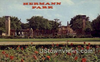Hermann Park Zoo - Houston, Texas TX Postcard