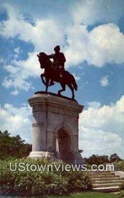 San Houston Monument, Hermann Park - Texas TX Postcard