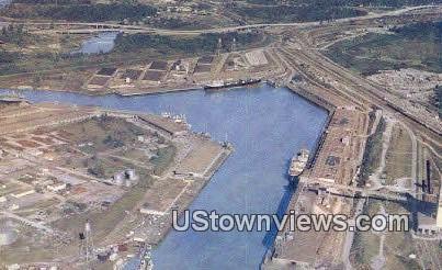 Houston Ship Channel & Turning Basin - Texas TX Postcard