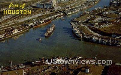 Port of Houston - Texas TX Postcard