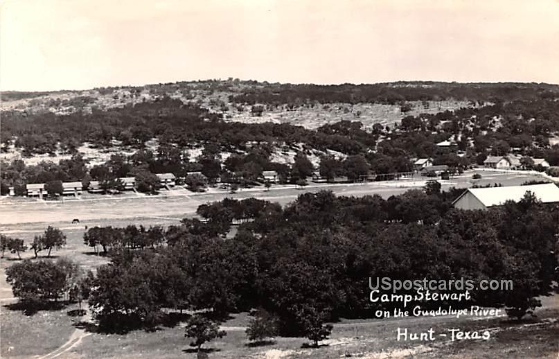 Camp Stewart - Hunt, Texas TX Postcard