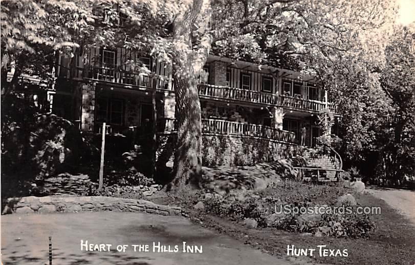 Heart of the Hills Inn - Hunt, Texas TX Postcard