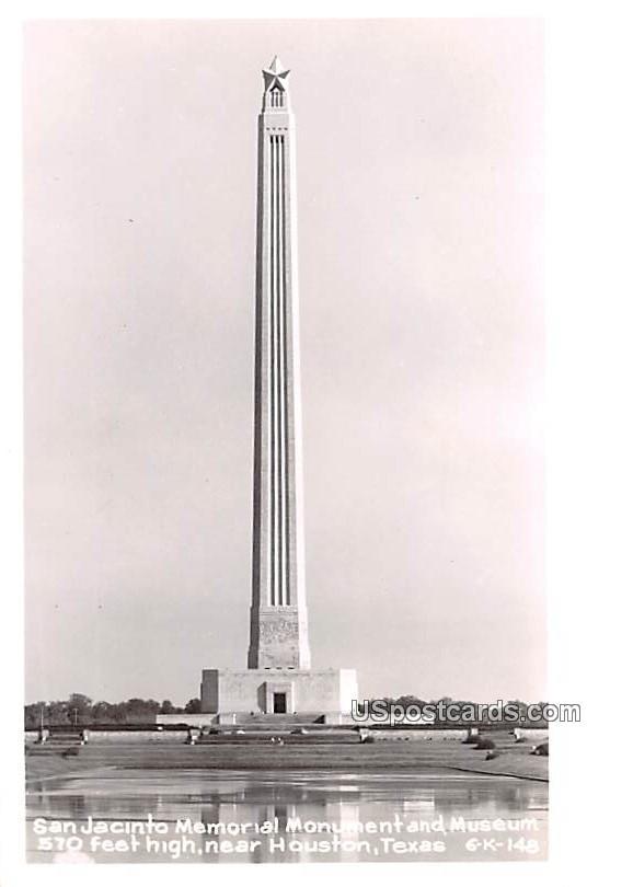 San Jacinto Memorial Monument and Museum - Houston, Texas TX Postcard