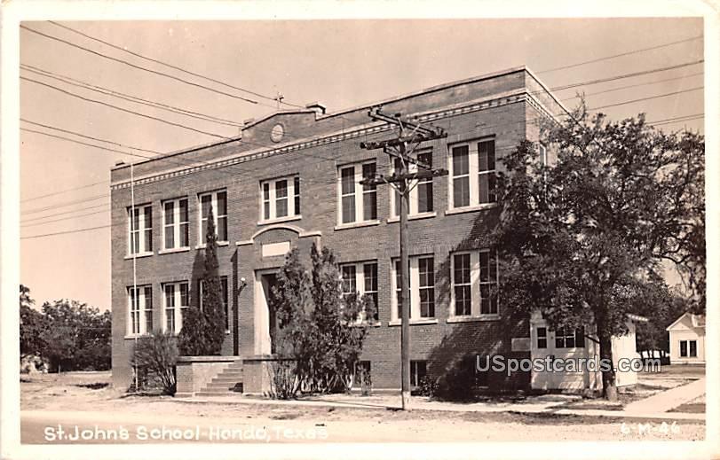 St John's School - Hondo, Texas TX Postcard