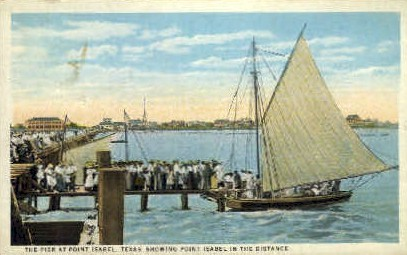 The Pier - Isabel, Texas TX Postcard