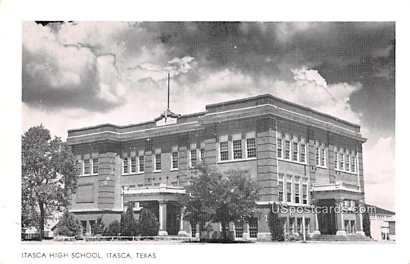 Itasca High School - Texas TX Postcard