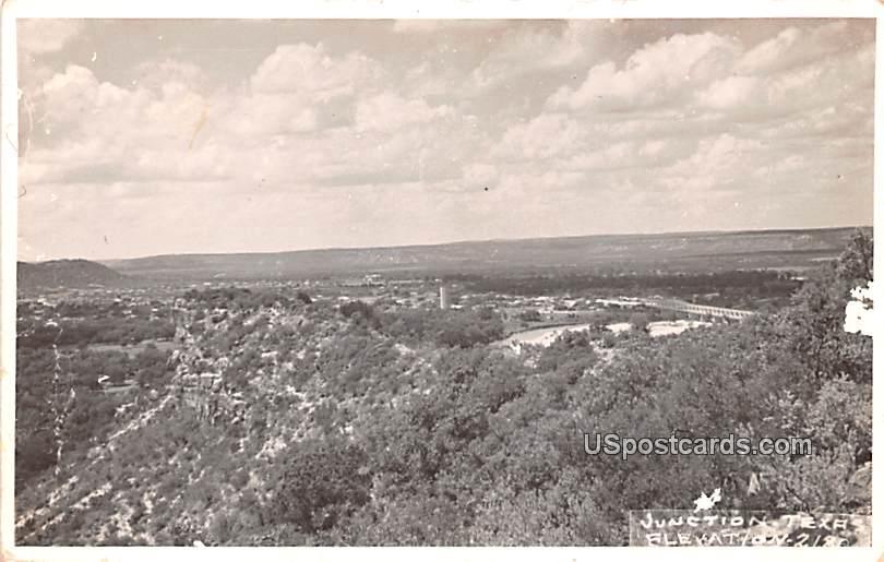 Birds Eye View - Junction, Texas TX Postcard