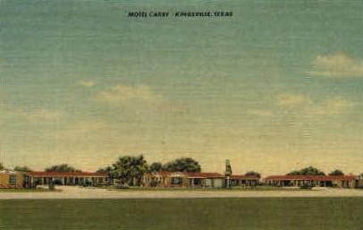 Motel Carby - Kingsville, Texas TX Postcard