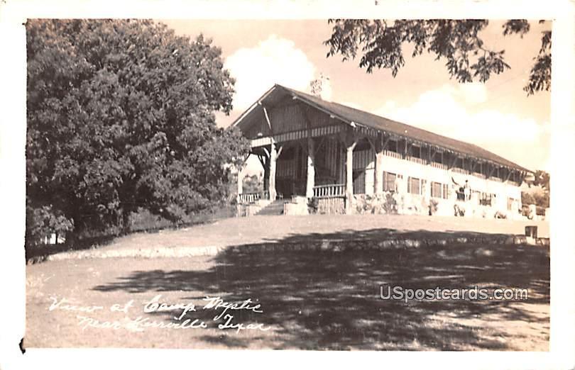 View at Camp Mystie - Kerrville, Texas TX Postcard