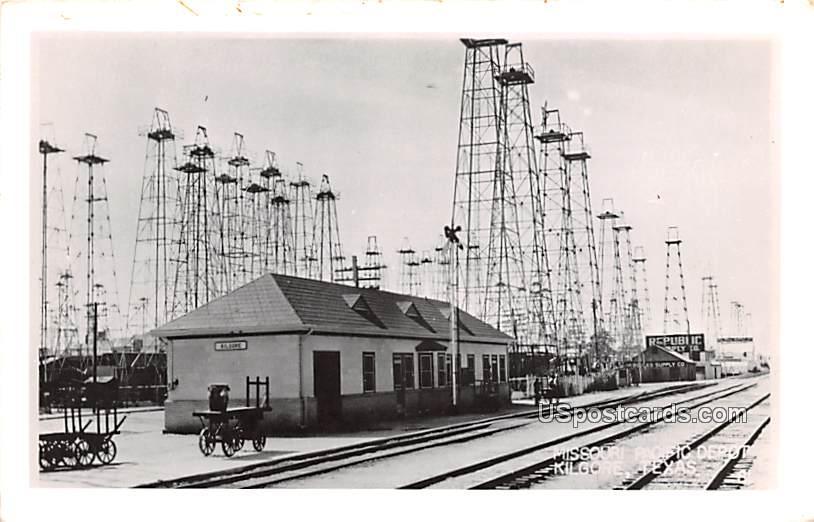 Mission Pacific Depot - Kilgore, Texas TX Postcard
