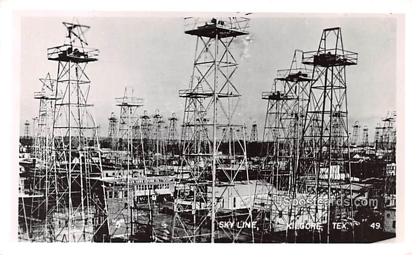 Skyline - Kilgore, Texas TX Postcard