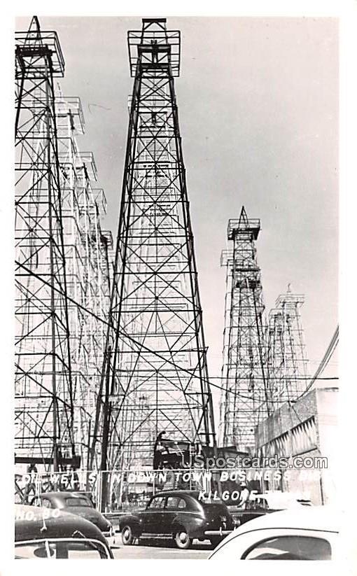 Oil Wells - Kilgore, Texas TX Postcard