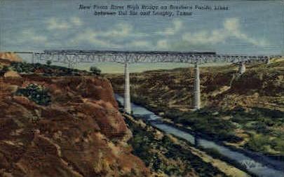 New Pecos River  - Langtry, Texas TX Postcard