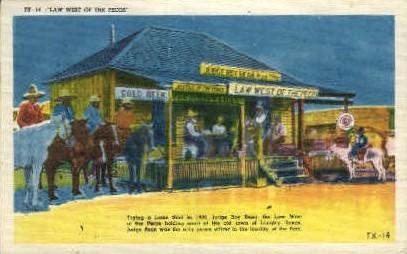 Judge Roy Bean - Langtry, Texas TX Postcard