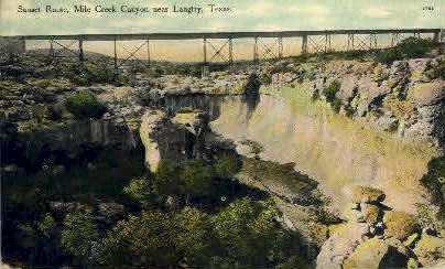 Sunset Route - Langtry, Texas TX Postcard
