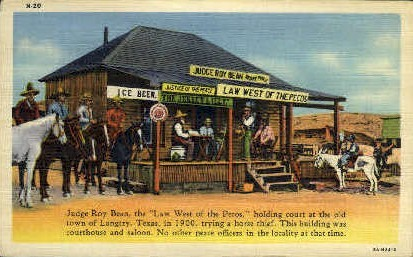 Judge Roy Bean Courthouse - Langtry, Texas TX Postcard