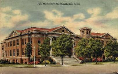 First Methodist Church - Lubbock, Texas TX Postcard