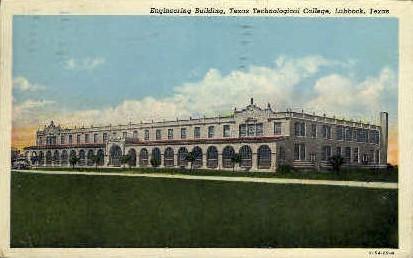 Engineering Building - Lubbock, Texas TX Postcard