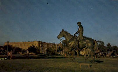 Riding Into The Sunset - Lubbock, Texas TX Postcard