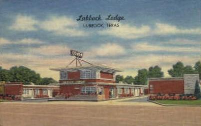 Lubbock Lodge - Texas TX Postcard