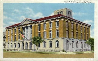 U. S. Post Office - Lubbock, Texas TX Postcard