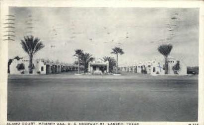 Alamo Court - Laredo, Texas TX Postcard